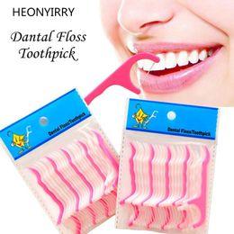 $enCountryForm.capitalKeyWord Australia - 25pcs Dental Flosser Interdental Brush Clean Teeth Stick Plastic Toothpicks Floss Pick Oral Hygiene Tooth Dental Floss C18122801