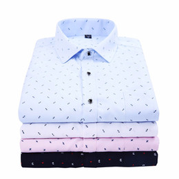 Wholesale dress shirts colors for sale – plus size ZOGAA Men Bussiness Shirt Long Sleeved Solid Floral Printing Plaid Casual Male Shirts Brand Clothing Colors Dress Shirt Man