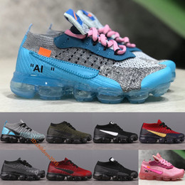 off white shoes Canada - VMP 2.0 Knit Kids Shoes 2019 Designer Sneakers Off Black White Dusty Cactus White Running Shoes Boys Girls Children Shoes Size 28-35