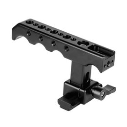 China Camera Rig Australia - CAMVATE Quick Release NATO Top Cheese Handle With NATO Safety Rail For DSLR Camera Cage Rig C2120