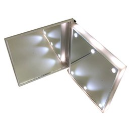 Wholesale Makeup Mirror With LEDs Cosmetic Mirror with Touch Dimmer Switch Battery Operated Stand for Tabletop Bedroom Travel Squre