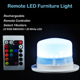 Wholesale LED Furniture Lighting Battery Rechargeable Led Bulb RGB Remote Control Waterproof IP68 Swimming Pool night Lights