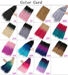 Bulk Hair Braids NZ - Hot! Crochet braids 24 inch box braid 22 Roots pack Ombre Synthetic Braiding Hair extension Kanekalon Fiber Bulk braid for Black Women