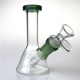$enCountryForm.capitalKeyWord Australia - New 14mm Glass Water Bongs with 5 Inch Thick Unique Mini Heady Beaker Bong Downstem Glass Bowls Recycler Oil Rigs Smoking Pipes