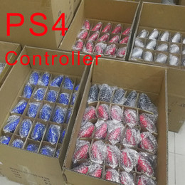 Venta al por mayor de Controlador inalámbrico Bluetooth para PS4 Vibration Joystick Gamepad Game Controller para Sony Play Station con caja al por menor
