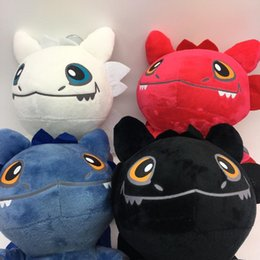 night light anime NZ - 25cm How to Train Your Dragon 3 Plush Toy Night Fury Toothless Light Fury Soft Dragon Stuffed Animals Doll 2019 New Movie