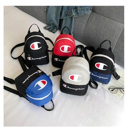 $enCountryForm.capitalKeyWord Australia - Women Champions Letter Backpack Mini Shoulder Bag Sports Travel Crossbody Waist bag Fanny Packs Rucksack Fashion Letter Print Bag