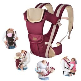 Wholesale 2-30 Months Baby Carrier Multifunctional Front Facing Baby Carrier Infant Bebe High Quality Sling Backpack Pouch Wrap Kangaroo Y190522