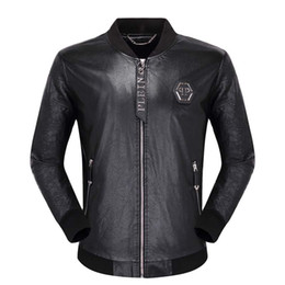 Wholesale high pockets jackets for sale – winter 2019 Mens leather jackets fashion brand high quality jacket street new men leather jackets autumn winter luxury jacket