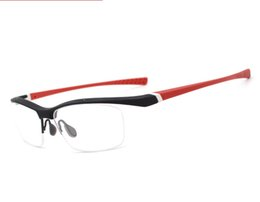 8adfb1bc7cf4 Men Eyeglasses Frame Sports Eye Glasses Classic Eyewear Prescription  Optical Out Door Spectacle Fashion Light Half Rimless Eyeglasses