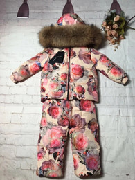 Grey babies pants online shopping - kids clothing Set Floral costume Outfits Baby Sets Long Sleeve Children hoodies pants kids coat jacket tracksuit kids clothes A