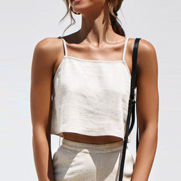 Summer Crop Top 2019 Sexy Fashion Women Pure Color Zipper Camisole Vest Sexy Tops Easy Clothes Cropped Top Female Clothes Femme