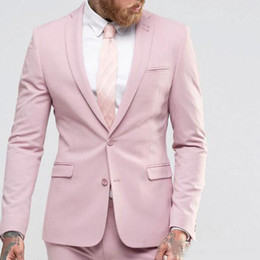 $enCountryForm.capitalKeyWord NZ - Pink Summer Men Suits Two Buttons Notched Lapel Balzer Jacket Men Prom Dance Mens Suits Wedding Party Suits Costume Mariage Coat Two Pieces