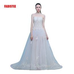 $enCountryForm.capitalKeyWord NZ - New arrival elegant wedding dress Vestido de Festa dress appliques long style strapless party dresses
