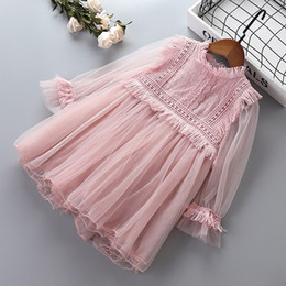 Years old babY girl dresses online shopping - Girl princess lace dresses baby girl party ball gown dress spring autumn children clothing for years old kids clothes
