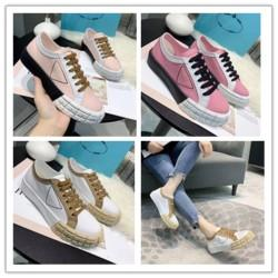 spring summer fall Canada - 2020 spring fall summer womens white canvas Fabric lace up Trainers Casual Shoes flat platform Rubber low top sneakers k055