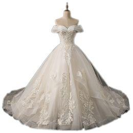$enCountryForm.capitalKeyWord NZ - DREAM BRIDALS Sweetheart Off Shoulder Lace Wedding Dress Lace-up Back Chapel Train Vestido De Novia Robe De Mariee Wedding Ball Gown Dresses