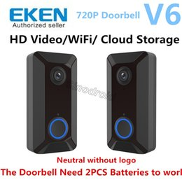 Wifi Audio App Australia - EKEN Smart Wireless Video Doorbell V6 Real-Time 720P HD Video Wifi Camera Two-Way Audio Night Vision App Control V2 Wi-Fi Enabled Doorbell