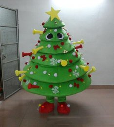 tree costumes Australia - hot sale 2018 new Christmas Tree mascot costume with big yellow star and colorful balls newest holiday carnival fancy dress