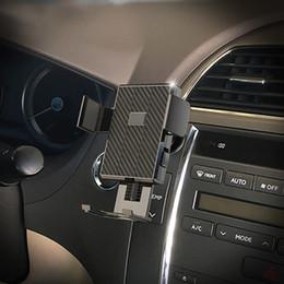 Sd conSole online shopping - Carbon Fiber Car Phone Bracket Car Navigation Bracket Air Outlet Center Console SD