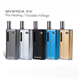 Опт Оригинал Mystica VV V11 Нефть БАД стартовый комплект 650 мАч аккумуляторная батарея Mod Vape Pen Картриджи с G2 Распылитель Мини-бак Магнитный