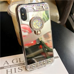 $enCountryForm.capitalKeyWord UK - Diamond Plated Mirror IPhone 5S 6 7 8 Plus Mobile Phone Case With Stand-up Cell Phone Case For Iphone XS XR MAX Wholesale