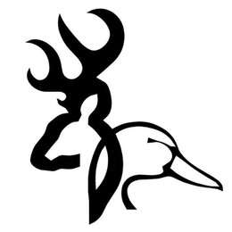 $enCountryForm.capitalKeyWord Australia - wholesale 20pcs lot Browning Deer Duck Cartoon Personalized Car Stickers And Vinyl Decals Black Silver 15cm*13.7cm c1-6358