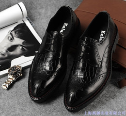 $enCountryForm.capitalKeyWord Australia - Really Circle Head Flange Enchanting2019 Leather Male Edition Carving Pure Skin Correct Dress Work Clothes Atmosphere Wedding Shoes