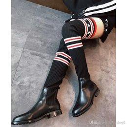 Boots Above Australia - Nice Eather Autumn Winter Above Knee Long Boots Star Designer Luxury Brand Elastic Socks Kelly Women Straight Boots Size 25-50