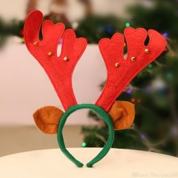 home birthday supplies Australia - Cute Christmas Antler Headband Hair Bands Jewelry Accessory Non Woven Hairband Holiday Birthday Party Supplies Christmas Home Decorations