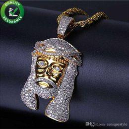 $enCountryForm.capitalKeyWord Australia - Iced Out Chains Pendant Hip Hop Jewelry Designer Gold Necklace Men Long Jesus Piece Pendants Luxury Diamond Rapper Chain Rock Wedding Gift