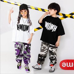 $enCountryForm.capitalKeyWord Australia - Kid Casual T Shirt Top Camouflage Jogger Pants Hip Hop Clothing Outfits for Girls Boys Dance Costume Ballroom Dancing Streetwear