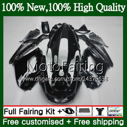 thunderace fairings UK - Thunderace For YAMAHA YZF1000R 96 97 98 99 00 01 87MF10 YZF-1000R YZF 1000R 1996 1997 1998 Glossy black 1999 2000 2001 Fairing Bodywork
