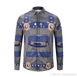 Double Shirt Designs Australia - Fashionable men design shirts, luxurious vintage medusa shirts, slim cotton shirts men's casual clothing pattern xx
