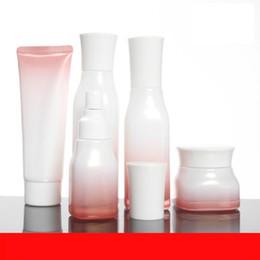 $enCountryForm.capitalKeyWord Australia - 300pcs40ml 100ml 120ml square shape pink glass bottle with screw lid lotion emulsion serum foundation toner water skin care cosmetic packin