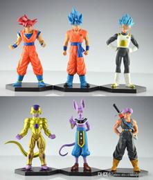frieza figures 2019 - NEW 12-14cm 6pcs a set Dragon Ball Resurrection 'F' golden Frieza battle of gods Theater Saiyan Son Goku actio