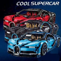 Build Toy Car Australia - New 4031Pcs Technic Figures Bugatti Chiron Racing Car Sets Compatible legoing 42083 Model Building Kits Blocks Bricks Toys