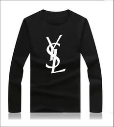 Vente en gros Paris mens 2019 designer de luxe vêtements mens designer chemises à manches longues impression Top manches longues femmes vêtements femmes vêtements de créateurs
