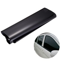 Discount tints for cars 75cmx3M Car Van Window Tint Film Universal Fit for Privacy Sun Glare Heat Reduction (Black)