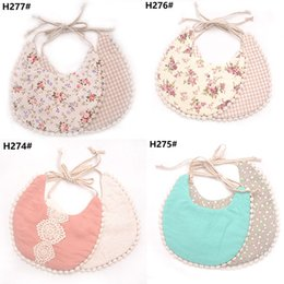 plain white bibs wholesale 2019 - 2019 INS hot sale cotton best bibs for drool baby boys girls bandana bibs and burp cloths tassel bibs cheap plain white