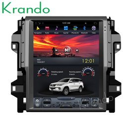 "touch screen toyota NZ - Krando Android 8.1 10.4"" Tesla Vertical touch screen car DVD radio player GPS for Toyota Fortuner 2016+ navigation system audio KD-TF124"