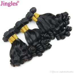 Discount 8a virgin funmi hair - Peruvian Human Hair Weave Bundles Aunty Funmi Boucy Curl Jingles 8A Grade 100 Unprocessed Peruvian Virgin Hair Bundles D