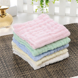 Small Cotton Handkerchief Australia - Baby wash bath comfort towel gauze towel baby saliva towel cotton children small square handkerchief newborn supplies