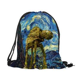 76b4c33794 Zaino personalizzato online-Esclusivo Personalizzato Van Gogh Notte  stellata borsa da viaggio zaino donna uomo