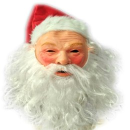 mask santa claus face 2020 - Realistic outdoor ornament chrismas mask Santa Claus costume discount mask santa claus face