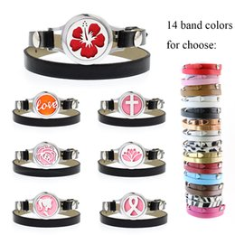 $enCountryForm.capitalKeyWord Australia - bracelet diffuser 25mm twisted screw princess ribbon Essential Oil Perfume Locket bracelet PU leather band 10pcs free pads