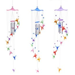 ceramic angels decorations Canada - Home & Garden Creative Lucky Humming Bird Wind Chimes Bells Hanging Gifts Dreamcatcher Pendant Wall Home Car Decor Garden Window Decoration
