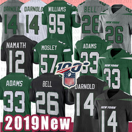Discount bell jersey - New 33 Jamal Adams York Jersey Jet Football 14 Sam Darnold 26 Le'Veon Bell 95 Quinnen Williams 57 C.J. Mosley 12 Jo