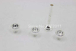 pc brass NZ - 4 PCS the Set 7C 5C 3C 1.5C Professional Bb Trumpet Mouthpiece Brass Silver Plated Trumpet Mouthpiece Free Shipping