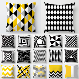 $enCountryForm.capitalKeyWord Australia - Cojines Decorativos Para Sofa Cushion Cover Yellow Pillow Geometric Polyester Decoration Home Decor Housse de Coussin 40548 D19010902
